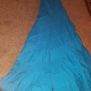 Turquoise maxi skirt size XL